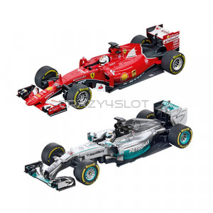 Duo Pack F1 Ferrari Vettel vs. Mercedes Hamilton