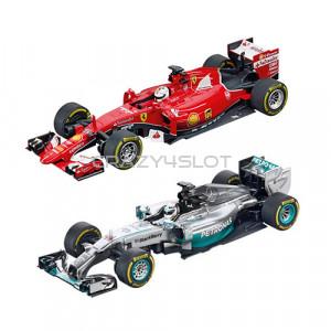 Duo Pack F1 Ferrari Vettel vs. Mercedes Hamilton