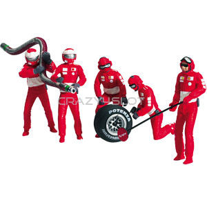 Ferrari Pit Crew Figures