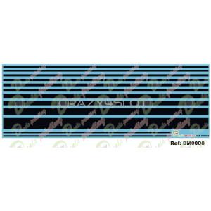 Waterslide Decals Black Stripes