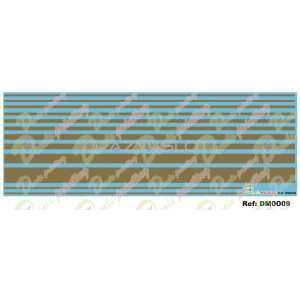 Waterslide Decals Gold Stripes