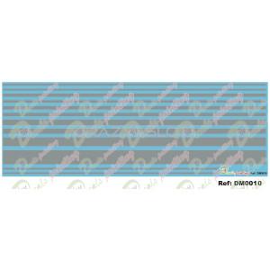 Waterslide Decals Silver Stripes