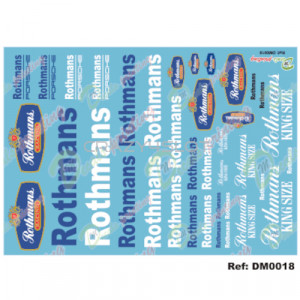 Waterslide Decals Sponsor Rothmans