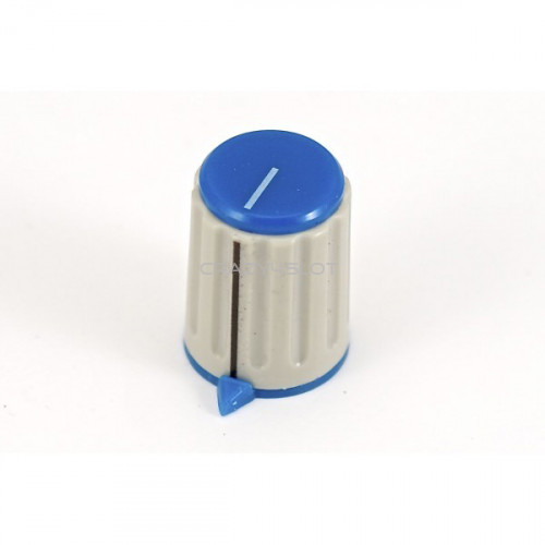 Blue Potentiometer Knob
