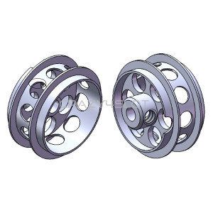Aluminium Wheels 16.5x8.2mm Air System