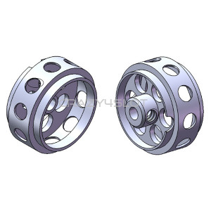 Aluminium Wheels 16.5x8.2mm No Air System