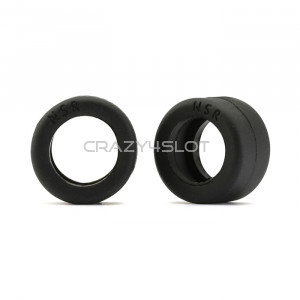 Black Rear Tyres 19x10mm for Rally Cars