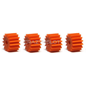 Anglewinder Orange Nylon Pinions 15 Teeth 7.5mm
