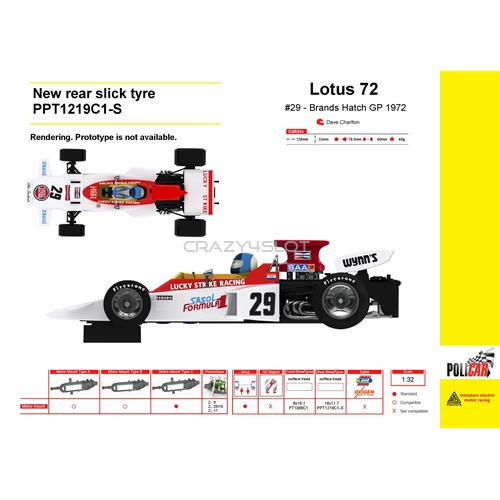 Lotus 72 No.29 Brands Hatch GP 1972 Dave Charlton
