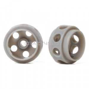Grey Delrin Wheels 14.5 x 9 mm