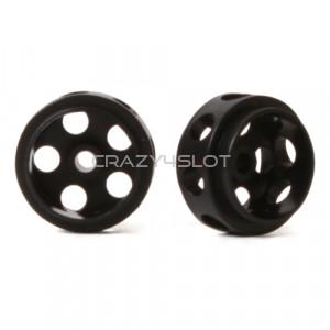 Black Delrin Hubs 14.5 x 9 mm