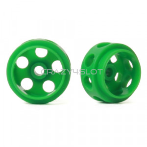 Green Delrin Wheels 15.5 x 9 mm