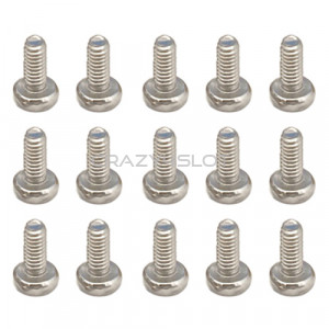Stainless Steel Phillips Dome Head Screws M2.5 x 6mm