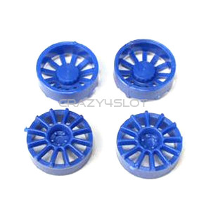 Blue Plastic 12 Spoke 17 Diam Wheel Inserts