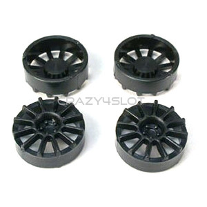 Black Plastic 12 Spoke 17 Diam Wheel Inserts