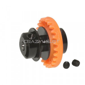 Nylon Inline Crown 25 Teeth Orange