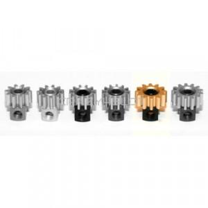 Removable Brass Pinion 12z  7.5mm Black