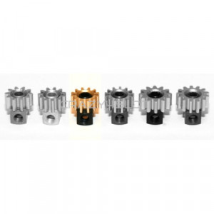 Removable Brass Pinion 12z  6.5mm Black