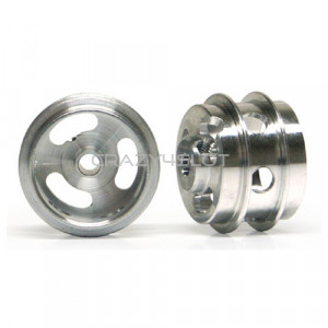Aluminium Wheels 15.8x10mm Short Air Hub Holed