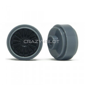 Plastic Wheels 16.5x8.2mm Grey