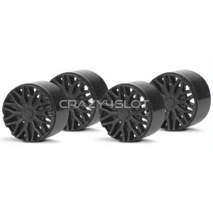 Wheel Inserts BBS Black for F1 Hubs