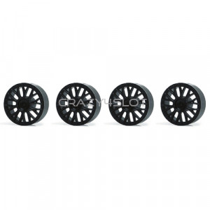 Wheel inserts BBS Black for 15.8mm Hubs