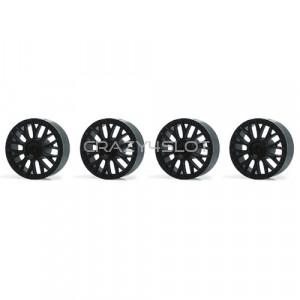 Wheel inserts BBS Black for 15.8mm Hubs