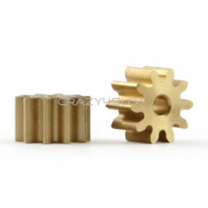 Brass Pinion 10 Teeth 6mm Internal 1.5mm