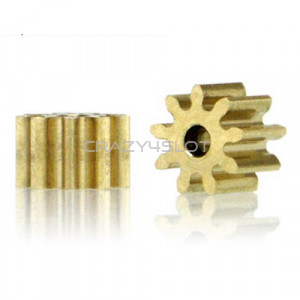 Brass Pinion 9 Teeth 5.5mm Internal 1.5mm