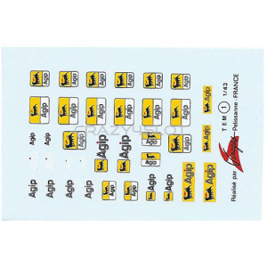 Agip Waterslide Decals 1:43