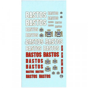 Bastos Waterslide Decals 1:43