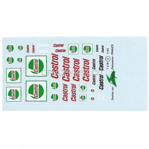 Castrol Waterslide Decals 1:43