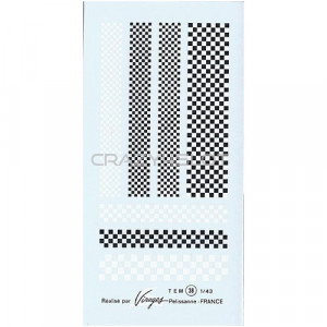 Checkerboard Waterslide Decals 1:43