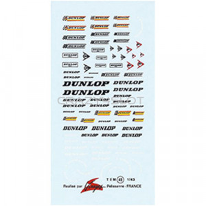 Dunlop Waterslide Decals 1:43
