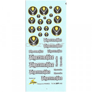Jagermeister Waterslide Decals 1:43