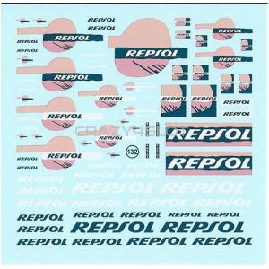 Repsol Fluo Waterslide Decals 1:43